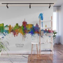 Geneva Switzerland Skyline Wall Mural