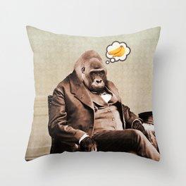 Gorilla My Dreams Throw Pillow