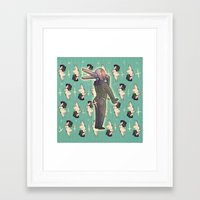 yaoi Framed Art Prints featuring BUTTS 2 by kami dog