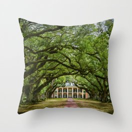 Oak Alley plantation historical site New Orleans USA  Throw Pillow