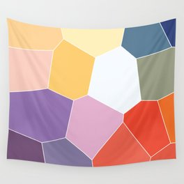 Colored Tiles Blocks Pattern Wall Tapestry