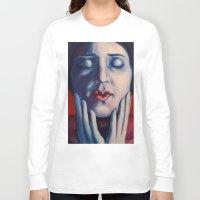 tina crespo Long Sleeve T-shirts featuring Buonanotte Tina Modotti by Kristina Gufo