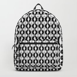 Cats in Love, silhouette mini story Backpack