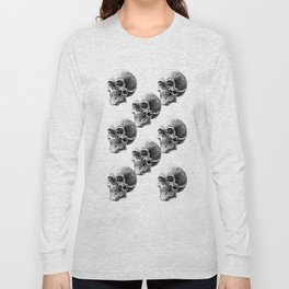 skull pattern Long Sleeve T-shirt