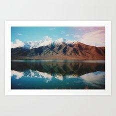 New Zealand Glacier Landscape Art Print