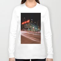 milwaukee Long Sleeve T-shirts featuring Milwaukee Public Market by Jonah Anderson