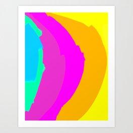 Neon Rainbow Art Print