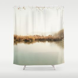 Autumn Lake Scene Shower Curtain