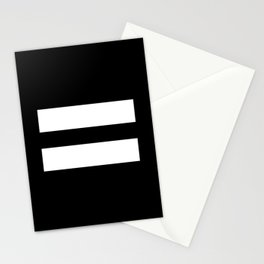 Equal Sign (White & Black) Stationery Cards