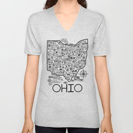 Ohio Map Unisex V-Neck