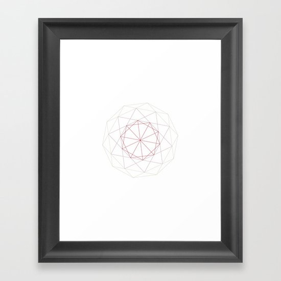 #182 A Schläfli-Hess polychoron – Geometry Daily Framed Art Print