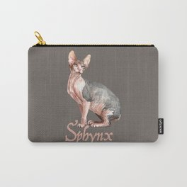 Sphynx watercolour Cat Carry-All Pouch
