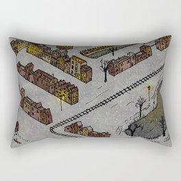 Wintery Town Rectangular Pillow