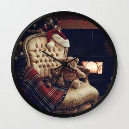 Teddies At Christmas Wall Clock