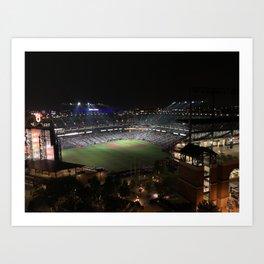 Camden Yards at Night Art Print