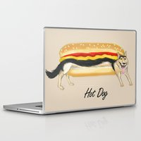 hot dog Laptop & iPad Skins featuring Hot Dog by Dano77