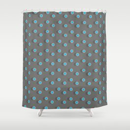 3D Dotted Pattern II Shower Curtain
