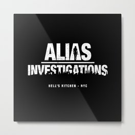 Alias Investigations Metal Print