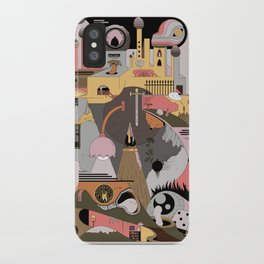 Camping at Home iPhone Case