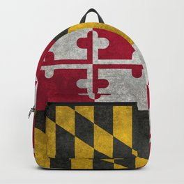 Flag of Maryland, in grungy vintage Backpack