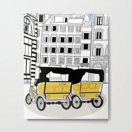 Florence Italy city tour taxi cars Metal Print