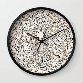 Parchment Secret Wall Clock
