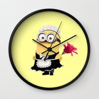 phil jones Wall Clocks featuring It's Phil! by Harry Martin