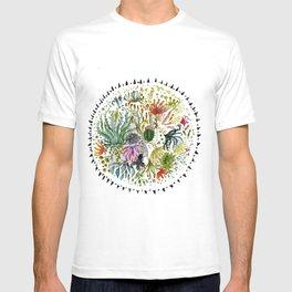 Succulents Mandala T-shirt