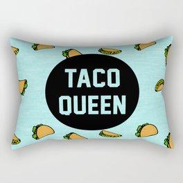 Taco Queen - blue Rectangular Pillow