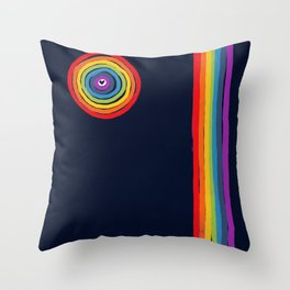 Bulls Eye  to love Throw Pillow