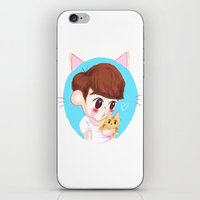 shinee iPhone & iPod Skins featuring SHINee cat by sophillustration
