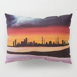 Abu Dhabi, watercolor Pillow Sham