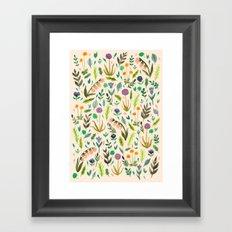 Colours from the garden Framed Art Print