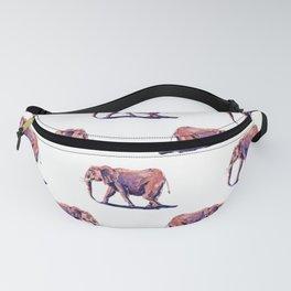 Pink elephant pattern Fanny Pack