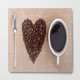 I <3 Coffee Metal Print