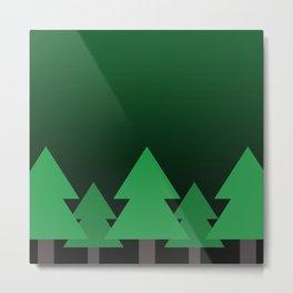 Green Treescape Metal Print