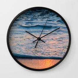 Foam and Reflections Wall Clock