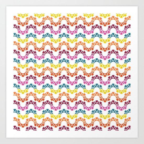 BP 83 Snake Stripes Art Print