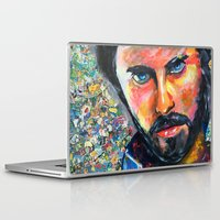 jared leto Laptop & iPad Skins featuring Jared Leto by Ilya Konyukhov