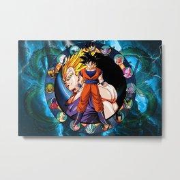 Dragon Ball Circle Metal Print