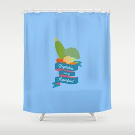Vegetables Superfood T-Shirt for all Ages D4oth Shower Curtain