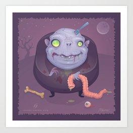 Blob Zombie Art Print