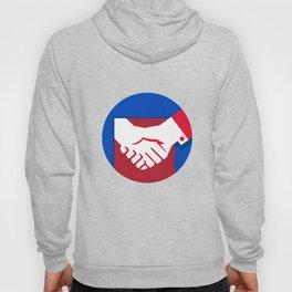 Business Deal Handshake Circle Retro Hoody