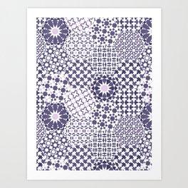 Spanish Tiles of the Alhambra - Violets Art Print