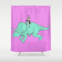 returns Shower Curtains featuring DB returns by Isaboa