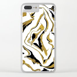 Gold And Black Opulence Clear iPhone Case