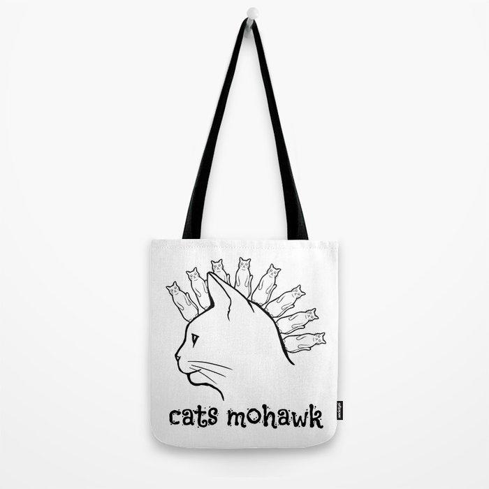 Cats Mohawk Tote Bag