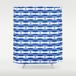 Mix of flag : Israel and Argentina Shower Curtain