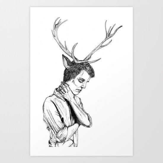 Stag Boy Art Print