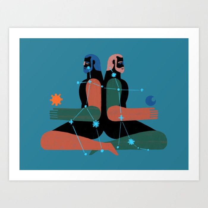 Geminis Art Print